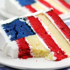 Flag Cake - Serve up patriotism by the slice. Serve up patriotism by the slice. Serve up patriotism by the slic - 4th Of July Desserts, Fourth Of July Food, Holiday Desserts, Holiday Treats, Just Desserts, Holiday Recipes, Delicious Desserts, Dessert Recipes, Yummy Food