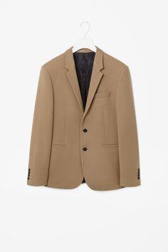 Wool and cotton blazer