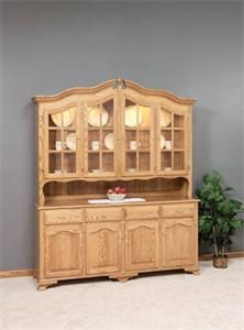 "73"" Bavarian Amish Hutch with Buffet Set"