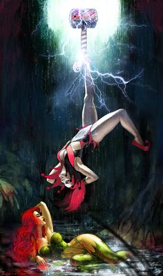 Poison Ivy and Harley Quinn •Sonia Matas