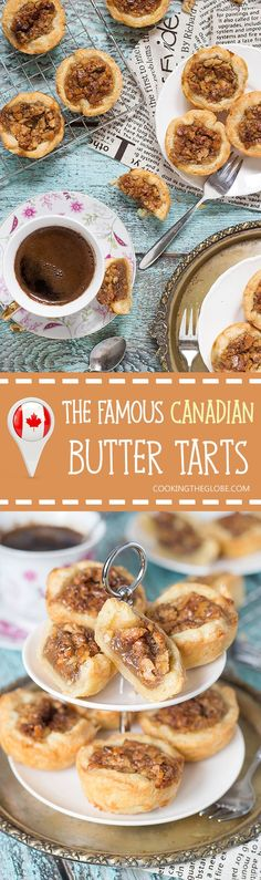 Famous Canadian Butter Tarts Butter Tarts are the traditional Canadian dessert. These little cute treats are sweet and buttery. One of the best desserts I have ever tried! No Bake Desserts, Delicious Desserts, Dessert Recipes, Yummy Food, Easy Desserts, Italian Desserts, Baking Desserts, Tart Recipes, Baking Recipes