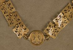 Gold Necklace with Cross, Gold, Byzantine