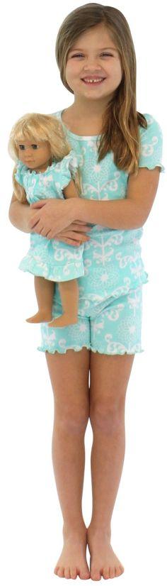 SleepytimePjs Kids Ruffle Shorts & Tee Pajama Set