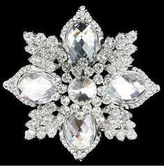 Beautiful Vintage Inspired Fancy Cuts Crystal Rhinestone Brooch (Sparkle-1675-U)