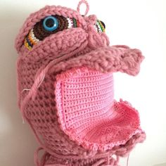 Maybe this is the soft palette? Regardless this monster has an inside of its mouth. Now for something different for a while. Too much pink is forcing me to take a break. #MTCTEY #artdoll #amigurumi #crochet #justcallmeTheClaw