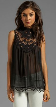 Gorgeous black lace detailing!