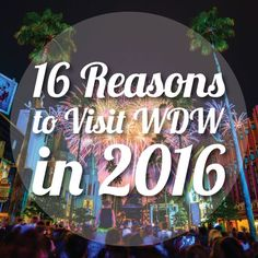 "Just in case ""one"" won't do ... here are 16 reasons to visit Disney World in 2016!"