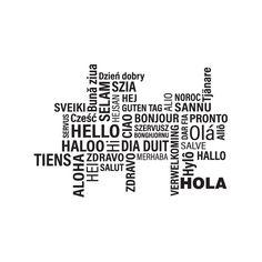 Vinilo textos Hola Hello Bonjour, Decir No, Design Ideas, Quotes, Texts, Frases, Travel Smash Book, Student, Pillows