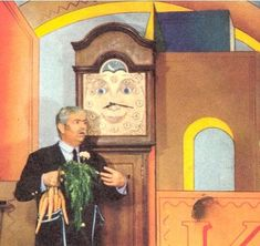 Grandfather Clock on Captain Kangaroo. I grew up watching Captain Kangaroo Photo Vintage, Vintage Tv, My Childhood Memories, Great Memories, Early Childhood, Midcentury Modern, Captain Kangaroo, The Last Summer, Back In My Day