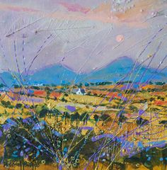 Deborah Phillips Landscape Paintings, Landscapes, Textured Painting, Wool Art, Dundee, Art Techniques, Contemporary Artists, Countryside, Inspirational