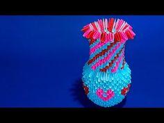МОДУЛЬНОЕ ОРИГАМИ бумажная ваза для цветов на 8 марта мк - YouTube