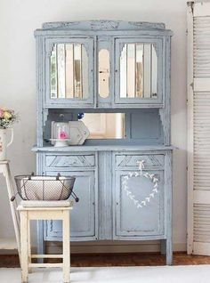 Powder blue hutch