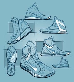 Matt Choto sneaker sketches