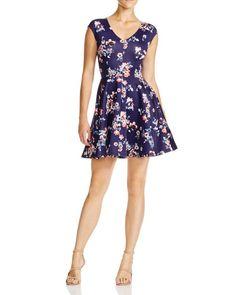 Aqua Sweet Floral Scuba Dress