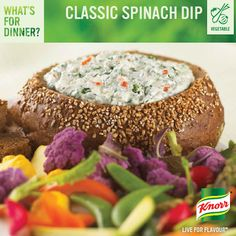 Dried Beef Dip and Spinach Dip are both classic dip recipes that have been around for a long time. Appetizer Dips, Appetizer Recipes, Appetizer Party, Party Dips, Classic Spinach Dip Recipe, Dip Recipes, Cooking Recipes, Healthy Recipes, Cooking Food