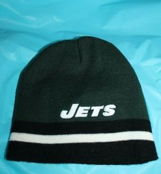 59a7adc44e3 New York Jets Genuine NFL Reebok Winter Knit Hat Acrylic Size 8-20 Youth  Junior