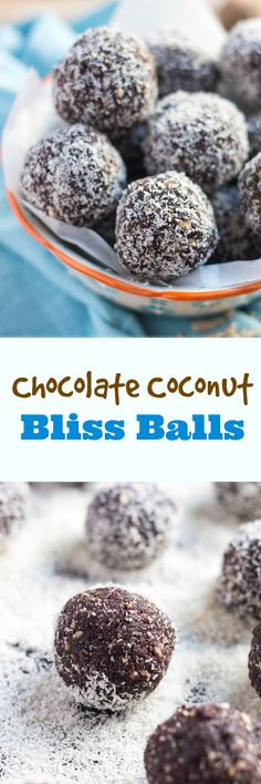 These Chocolate Coconut Bliss Balls are simple to throw together, and great to have in the fridge as a grab-&-go snack.