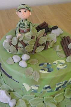 airsoft cake!!! will be better If is Green tea flavor!!!