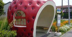 Fruit Bus Stop: in #Giappone le pensiline degli #autobus sono dolci come la #frutta