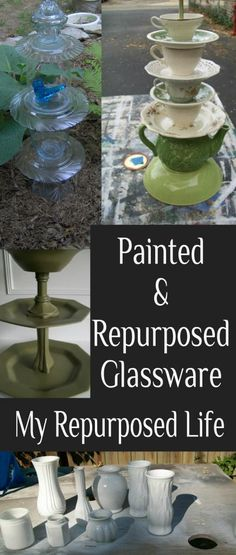 My Repurposed Life-Painted/Repurposed Glassware & More