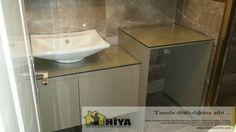 Banyo tadilat ve akrilik dolap uygulaması www.hiyamimarlik.com.tr  #hiyamimarlik