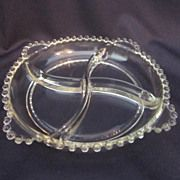 Imperial Glass, Candlewick Divided Relish Plate