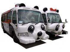 panda bus asakusa line #asakusa #tokyo #japan #travel [ http://bow-asakusa.com ]