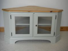 Shabby Chic Solid Pine Television TV Cabinet in Farrow and Ball French Gray. | eBay