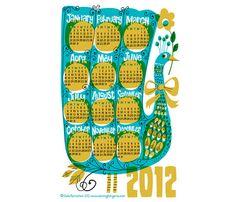 2012 Peacock Calendar by kenguroo