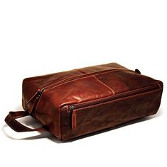 Jack Georges Voyager Shoe Bag Large Leather Toiletry Bag Travel Kit in  Brown     You can get more details by clicking on the image. 706e296da28f8