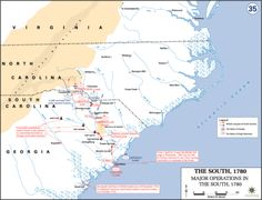 Major Operation in the South during the Revolutionary War (History Department, US Military Academy)