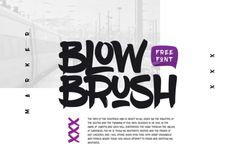 FREE Font: BlowBrush Typeface By TheHungryJPEG