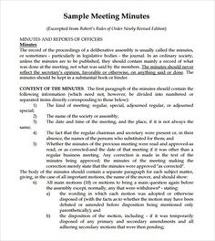 Image Result For Trust Meeting Minutes Format