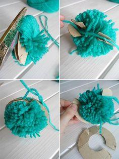 1000 images about borlas y pompones on pinterest - Como hacer pompones con lana ...
