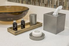 Asheville Rustic Wood Collection and Antique Stainless Steel Bath Accessories