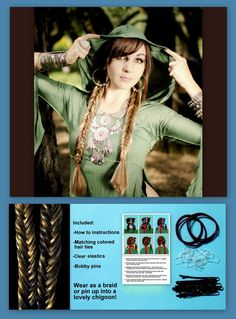 Fishtail Herringbone hair Fishbone Braids plaits hair extensions belly dance costume wig hair accessories plaits hair piece hairpiece custom via Etsy Fishbone Braid, Milkmaid Braid, Fishtail, Plaits Hairstyles, Dance Hairstyles, Trendy Hairstyles, Medium Hair Braids, Medium Hair Styles, Costume Wigs