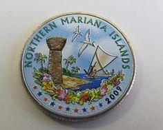 2009 Colorized Mariana Islands Quarter