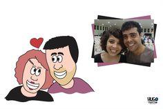 A caricatura abaixo é do casal Laís e Paulo Henrique, caricatura que ilustrou o convite de casamento.  Peça também uma caricatura para presentar seus amigos! Nos envie uma foto bem bonita de rosto no email.  http://hugocriativo.com/2013/06/caricatura-personalizada.html#.Ubi6G-dwfFA