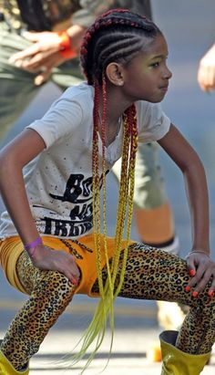 Willow Smiths braided hairstyle. I love the clothing ideas too! All of this, fab!