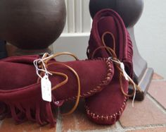 Moccasins Leather Suede Handmade Ankle Boots Green by thecraigpaul