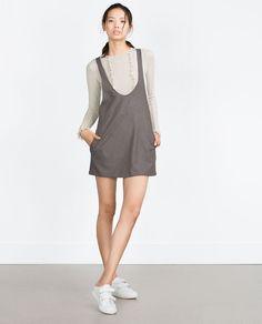 Image 1 of CHECK PINAFORE DRESS from Zara