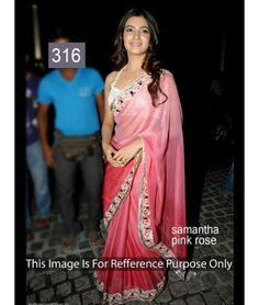 Bollywood Designer Party Wear Saree Samantha pink