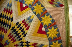 Quilt detail. From the Susan Hannig Museum, Austin, Texas