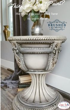 An English Inspired Design Have you ever really thought about how many people see the outside of your home? Chalk Paint Furniture, Hand Painted Furniture, Distressed Furniture, Refurbished Furniture, Repurposed Furniture, Shabby Chic Furniture, Furniture Projects, Furniture Making, Furniture Makeover
