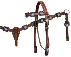 Rhinestone headstall & breast collar set from www.spoilmhorse.com