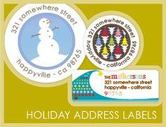 Love these holiday address labels!   #ECgiveaway #ECwishlist
