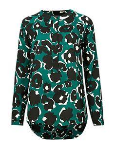No Peep™ Long Sleeve Contrast Print Utility Shirt | M&S