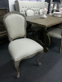 French Country  Oak Frame Dining Chair