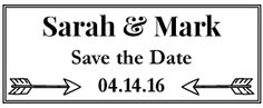 Something New Save The Date Horizontal Stamp