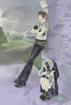 Squall and Rinoa in the Rain. Final Fantasy VIII